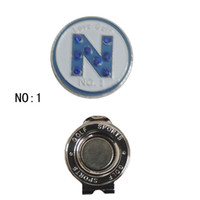Wholesale golf ball markers with cap clips
