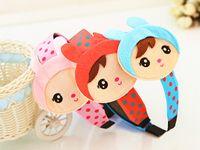 Wholesale The new children s hair accessories plush bunny ears headband jewelry cute smile hair hoop headband Girls Baby Hair Top Children s hoop buck