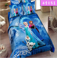 Girls' Four-piece Cribs Bedding 3D cartoon kids bedding sets Frozen Bedding Sets christmas Despicable Me Banana bed set king size bed linen for children