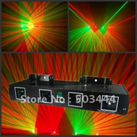 Microphones Yes CASA Flash light 4 Lens GREEN+RED DSPP Laser Light PRO edtion DMX Sound Active Master-Slave DJ Disco Club laser light show
