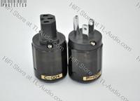 US power plug p-004, c-004 US; IEC Oyaide P004 Rhodium plated US AC Power Plug & C004 IEC Connector