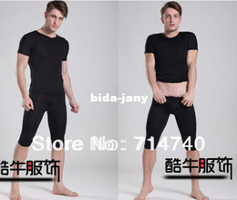 Wholesale pirate shorts home men s sexy tight U convex pouch pajama Pocket Pant pyjama trousers and t shirts