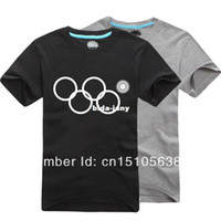 Men Cotton Polo Wholesale-New 2014 Sochi Problem T-Shirt Olympic Rings Fail Winter Games Opening Ceremony Funny Shirt Snowflake Russia Jersey