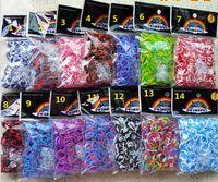 Cheap BEST SELLING!Four color rubber band. Rainbow loom bracelet. Rainbow bracelet braided bracelet. 600 bands+S s-clips + 1 crochet 6pcs LN