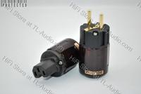 EUR power plug P-079E; C-079 EUR; IEC Oyaide P-079E Gold-Plated Pure Copper EUR Power Plug + C-079 IEC Connector