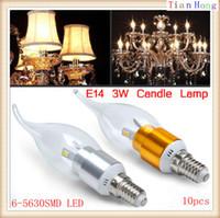 10pcs lot E14 3W 5630 SMD LED Candle Light Bulb Lamp 85~265V...