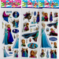 Wholesale cm SPONGE FROZEN STICKERS kids toys DIY Adhesive paper game