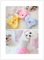 Бесплатная доставка собака любимчика физиологические брюки женские животные собаки санитарные штаны Cute для собак бабочки мягкой шерсти материал