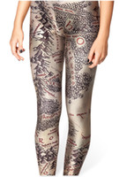 Wholesale Hot womans brand clothes digital printed pants black milk MIDDLE EARTH MAP LEGGINGS