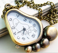animal stationary - Price New Antique Black White Foot Pocket Watch For kids Gift New Arrival Fashion Summer Designs