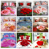 100% Cotton Woven Home 3D Oil Painting Bedding Sets Cotton Printed Bedclothes King Bed Linens Sheet Sets,Duvet Cover Sets Bed Set&Animal&Plant