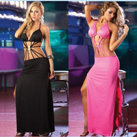Reference Images Halter Polyester 2014 Fashion Sexy Halter Boho Bandage Backless Split Sides Prom Dress Maxi Long Evening Cocktail Party Prom Dresses Ball Gown ecc1514