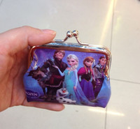 Wholesale Girls Wallet Frozen Coin Purse Anna Elsa Olaf Gifts For Holidays Christmas BB194