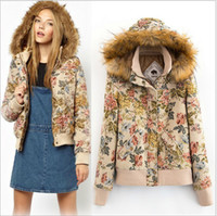 Down Coats Women Waist_Length HOT NEW Fashion Women's winter warm Hooded Vintage cotton yarn-dyed jacquard fabric Down Jackets Coat Outerwear cotton-padded clothes #1-67