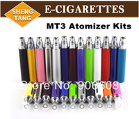 Metal Yes EGO 100pcs lot MT3 Atomizer for Electronic Cigarette EGO Zipper Case Kit EVOD Clearomizer for E cigarette 2.4ohm Free DHL