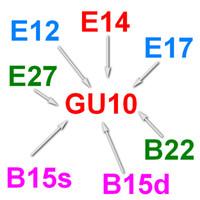 Brass adapter e27 to gu10 - Gu10 to E12 E14 E17 E27 B15s B15d B15 B22 to GU10 base holder socket converter adapter lamp bulb fitting