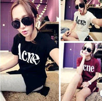 Men Polo Cartoon animation 2014 spring new Korean version of casual women's clothing wild female long -sleeved T-shirt printing letters tide ACNE