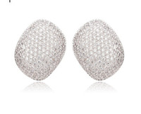 Wholesale 0 ct Brilliant Round Cut Signity Cubic Zirconia Cz Micro Pave Stud Earrings NEW