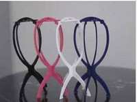 Wholesale 4Pcs Folding Wig Stands Hair Hat Cap Stand Holder Stable Collapsible