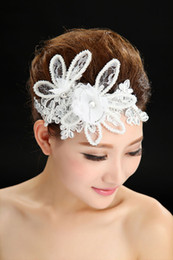 Wholesale Dancing Bride Hair Accessory Handmade Lace Fower Hair Accessory Married Short Hair Accessories Wedding Dresse