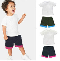 Summer ad year - AD New Baby suits Cotton Summer T shirts Shorts Piece Sets Sport Suit Year