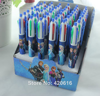 Wholesale 10pcs new colors frozen anna elsa cute ballpoint pen office school supplies