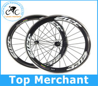 Wholesale ZIPP mm rim full carbon road bike wheels Alloy Brake Surface Clincher bicycle Aluminum Wheelset for de rosa frame