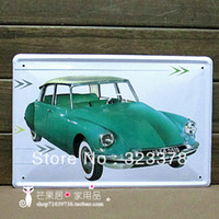 Graphic vinyl PVC Animal Vintage Metal Painting Car Series Iron Wall Decoration Painting Art Clothing Shop Window Decor 20*30cm,Free Shipping