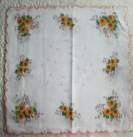 Wholesale LADIES VINTAGE Design COTTON HANKY Rose Flower HANDKERCHIEF with embroidered edge quot