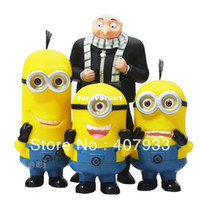 Wholesale 24pcs Despicable Me D Eye Minions Gru Piggy Bank Money Bank Coin Bag hot sale
