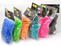 Wholesale Rainbow Loom Kit DIY Wrist Bands Rainbow Loom Bracelet for kids bands C clips Colors MOQ