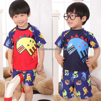 Wholesale Swim Trunks Boys T Shirt Kids Swimwear Children s Beach Supplies Child Sets Beachwear Kids Bathing Suits Children Swimwear Boys Swimsuit
