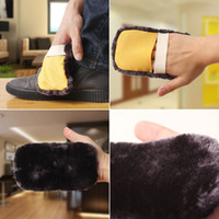 Wholesale Shoe Care Gloves Towel Multifunction Plush Cleaning Cloth for Leather Shoes with Elastic Band WK14060701