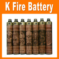 Wholesale K Fire Battery Variable Voltage Spinner Battery Wooden Mod mAh Battery for E Cig match with CE4 CE5 CE6 protank etc atomizer