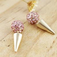 Wholesale 2014 New Lovely Ball Full Rhinestone Shamballa Stud Earrings