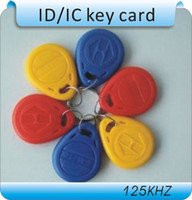 id cards - 100pcs Khz RFID Proximity ID Card Token Tags Key Keyfobs for Access Control Time Attendance
