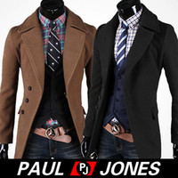 Tench coats Men Waist_Length PJ Men's Stylish Single Breasted Wool blends trench coats 4 Size M X XL XXL CL5577