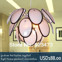Pendant Lights TPL 4head Wholesale New Free Shipping modern Chandeliers fashion glass art led pendant lamp for living room square design light lamp