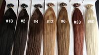 Wholesale 6A Grade Nano Ring Hair Extension Brazilian Human Virgin Remy Hair B Pre bonded Hair g Factory