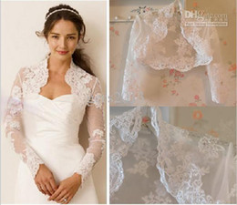 Wholesale New Arrival Beautiful Long Sleeve Applique Bridal Jacket Wedding Jacket High Quality Bridal Accessories Wedding Events Jacket J010