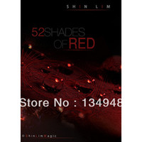 Wholesale 52 Shades of Red by Shin Lim Card magic Only The teaching Video send via email not include gimmick