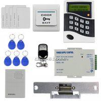 Wholesale DIY RFID ID Card Keypad Door Access Control System Kit Strike Lock Door Bell B100