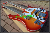 bass body styles - OEM China Guitar New Style Sunrise Double neck electric guitar strings bass strings guitar