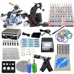 Wholesale PRO Complete Starter Tattoo kit machines guns inks power supply Beginner Set