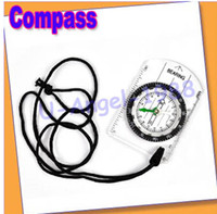 Wholesale Mini All in Outdoor Hiking Camping Baseplate Compass Map Measure Ruler