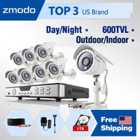 Box/Body Continuous, Time Scheduled, Motion Detec CCTV/Closed System - Wired Wholesale - Zmodo 600TVL High Resolution CCTV Kits 8CH home Surveillance Camera System with 8 Outdoor indoor Security Cameras 1TB HDD