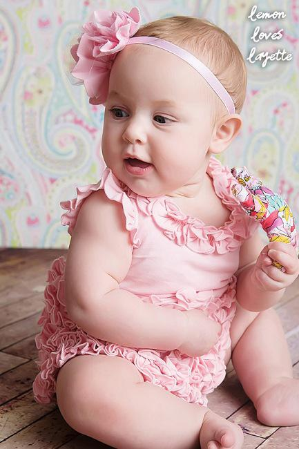 Buy 2014 Girls Jumpsuits Pink Cake Side Triangle connection modelling Baby Romper + Headwear Summer Kids Clothing TX657