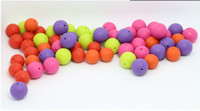 Wholesale MIX COLOR Silicone Teething Beads Silicone Round Beads mm Round Beads Beaded Necklaces Baby Chew Beads