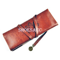 Cosmetic Cases Solid  New Fashion New Moon Synthetic Leather Pencil Cosmetic Case Pen Pouch Free Shipping 2408