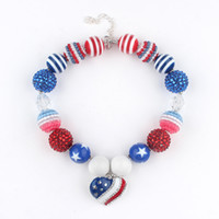 Beaded Necklaces American Patriotic Necklace Children s American Flag